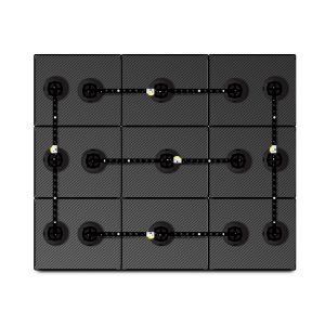 14 x 17 Carbon Fiber Mosaic System – Small Suction Cups