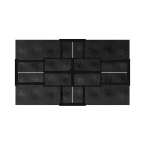8×14 2×2 Mosaic System – Carbon Fiber